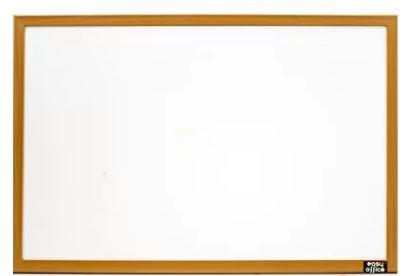 Quadro Branco Moldura Madeira 60x40cm STD Cortiarte 764770  - Mundo Mágico