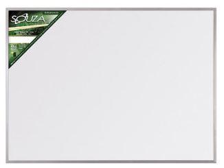 Quadro Branco Moldura STD Aluminio Pop  90x60cm Souza 5603  - Mundo Mágico