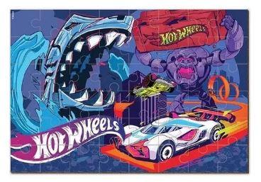 Quebra Cabeça 48pçs Hot Wheels Cartonado Fun 8689-1  - Mundo Mágico