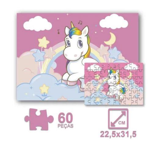 Quebra Cabeça 60pçs Unicornio Pais e Filhos 0997  - Mundo Mágico