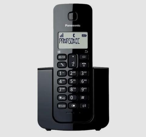 Telefone s/ Fio Panasonic KX-TGB110LB Preto  - Mundo Mágico