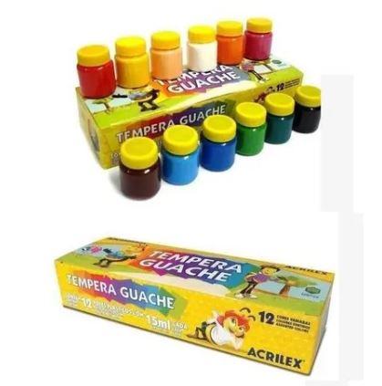 Tinta Guache 15ml 12 Cores Acrilex 02012  - Mundo Mágico