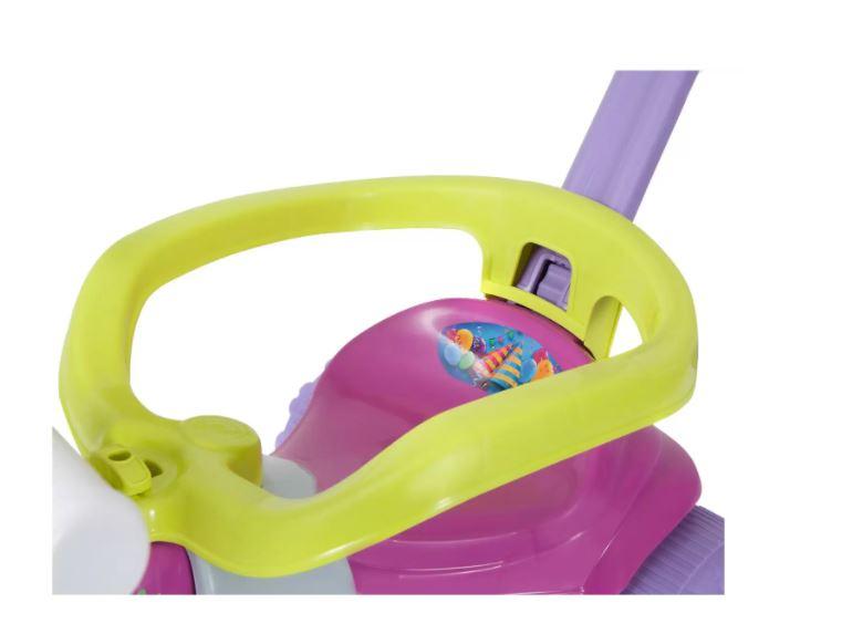 Triciclo c/ Aro Tico Tico Festa Rosa Magic Toys 2561L  - Mundo Mágico