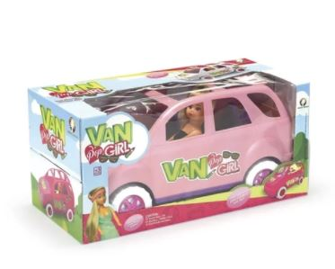 Van Pop Girl c/ Boneca - Monte Libano 4735  - Mundo Mágico