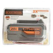 Bateria de Lition Ion 20v Max 3,0Ah Black e Decker LB320BAT