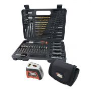 Kit para Furar Parafusar e Nivelar com 115 peças Black e Decker - A7132-LA