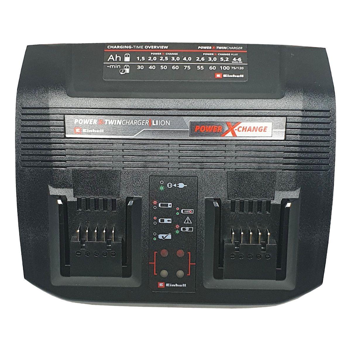 Carregador Duplo POWER X-TWINCHARGER, 3A, Einhell, Bivolt, 4512093