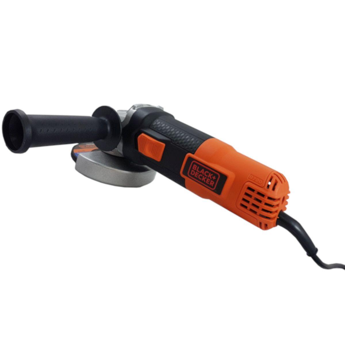 """Esmerilhadeira Angular de 4-1/2"""" (115mm) Black e Decker 820W, G720, + Brinde"""