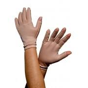 Luva com dedos, curta, UNISSEX - NUDE