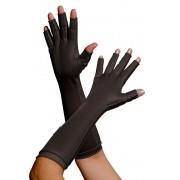 Luva com dedos, longa, UNISSEX - PRETA