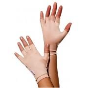 Luva meio dedo, curta, UNISSEX - BEGE