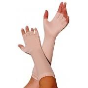Luva meio dedo, longa