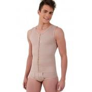 Modelador masculino, com cueca, regata, abertura frontal - NUDE