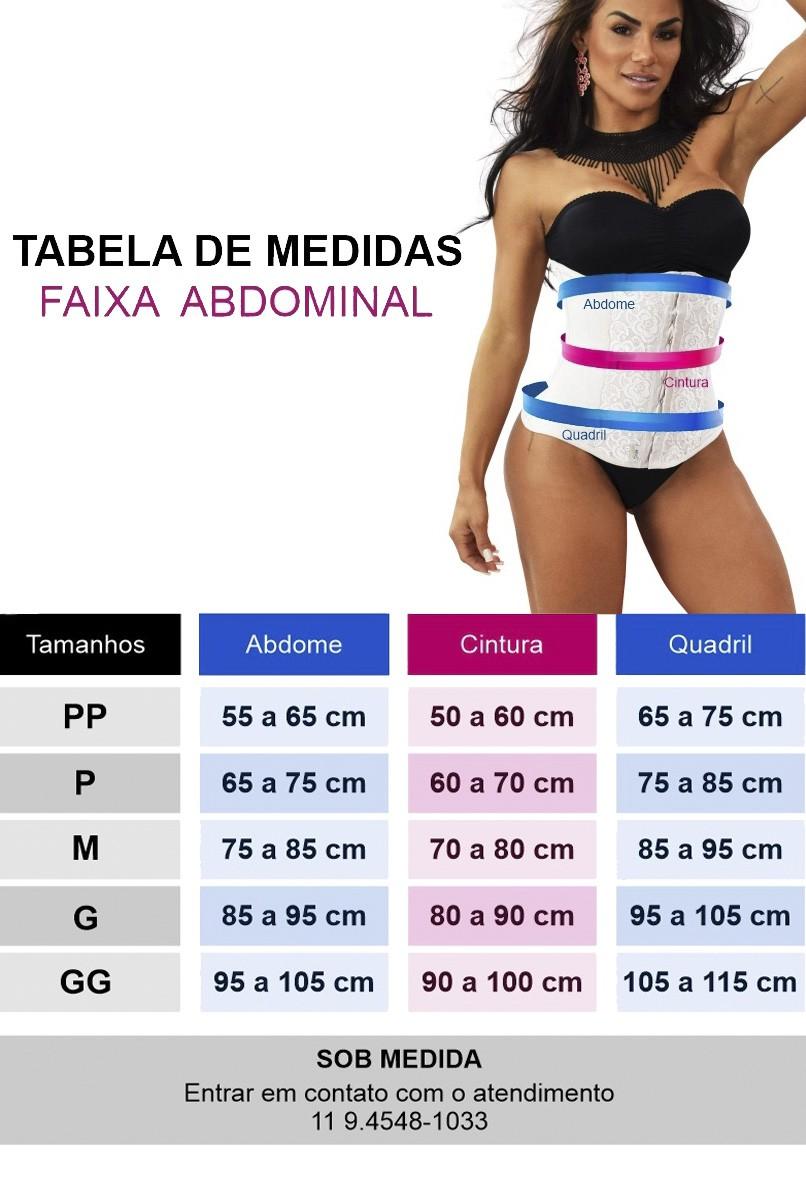 Cinta abdominal Fitness, com 11 barbatanas, abertura frontal - NUDE/PRETO
