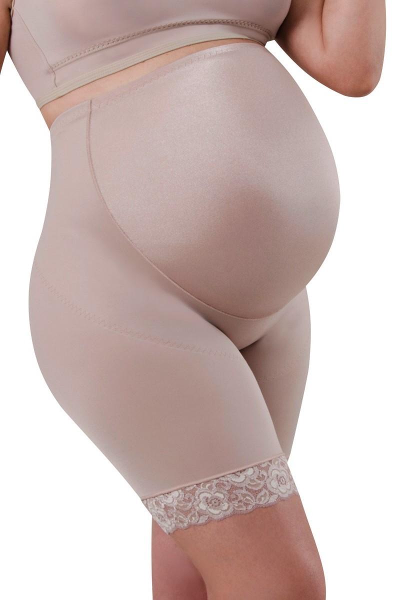 Cinta cintura alta, meia perna, lycra frontal, reforço de sustentação, FECHADA - NUDE