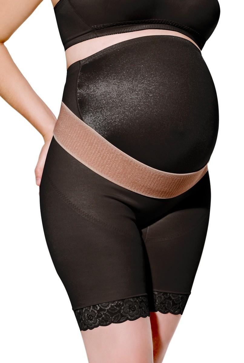 Cinta cintura alta, meia perna, lycra frontal, reforço de sustentação, FECHADA - PRETA