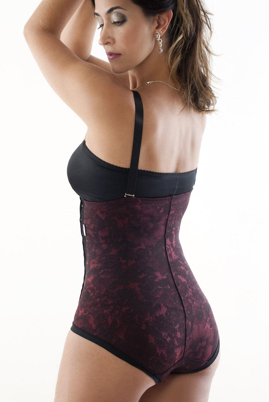 Cinta cintura alta, sem pernas, alça removível com abertura lateral  - FLORAL