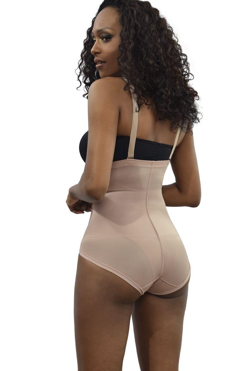 Cinta cintura alta, sem pernas, alça removível com abertura lateral  - NUDE