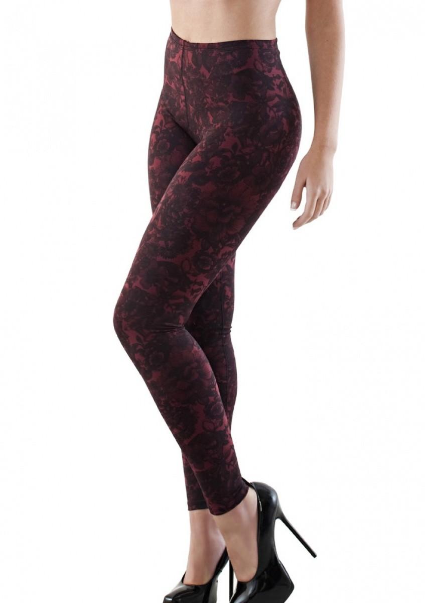 Cinta cintura normal, longa, legging - FLORAL