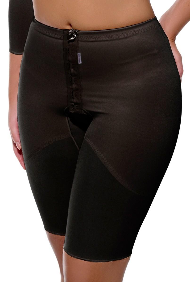 Cinta cintura normal, meia perna com abertura frontal - PRETO