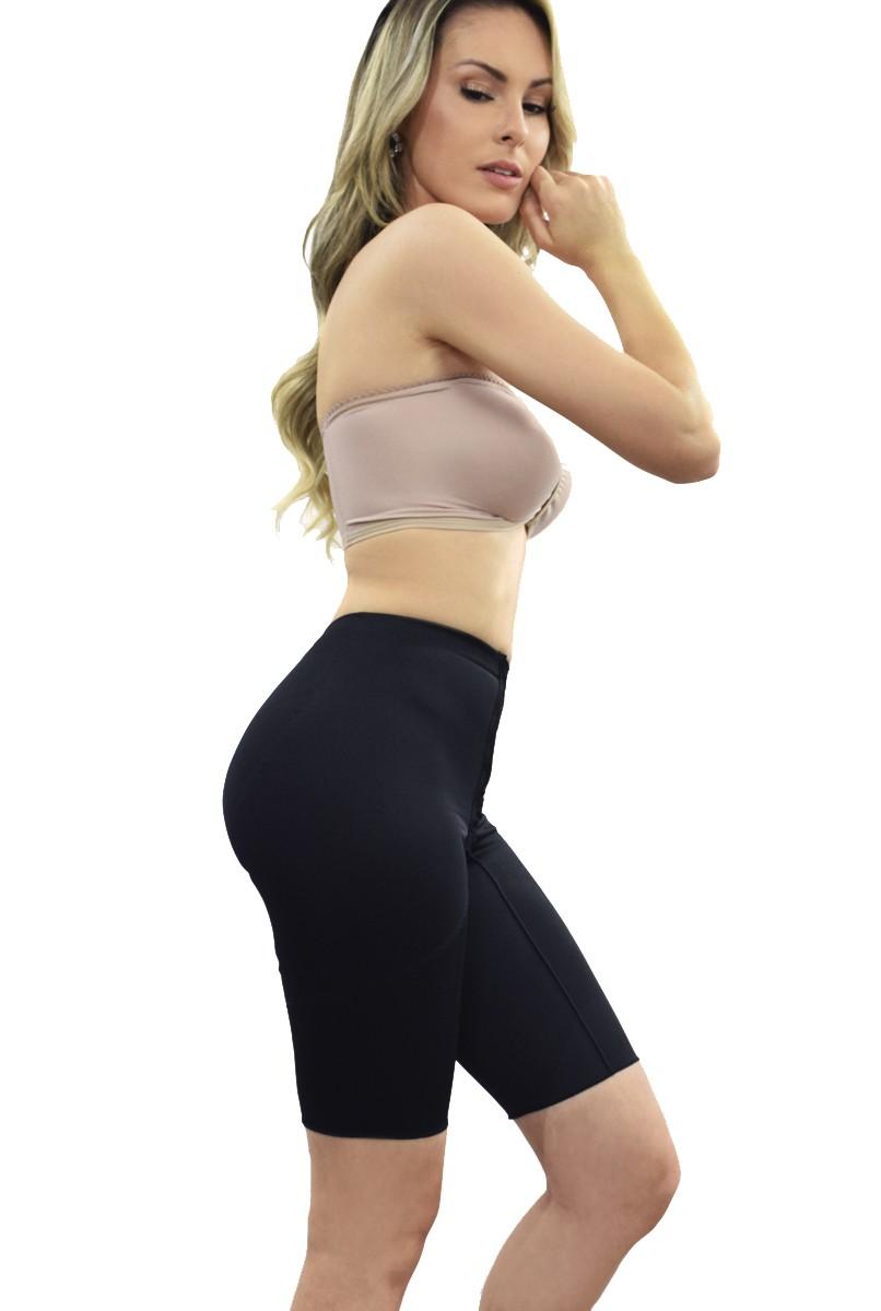 Cinta cintura normal, meia perna FECHADA - PRETO
