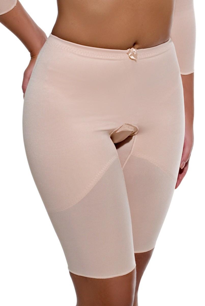 Cinta cintura normal, meia perna FECHADA - BEGE