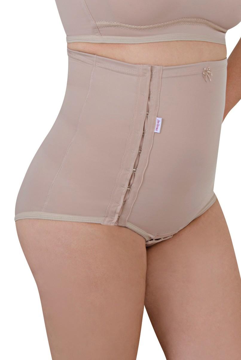 Cinta sem pernas, cintura alta, abertura lateral - NUDE