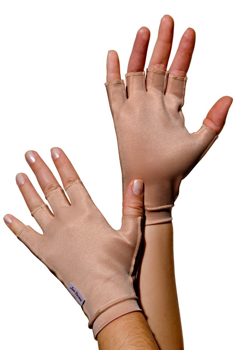 Luva meio dedo, curta, UNISSEX - NUDE