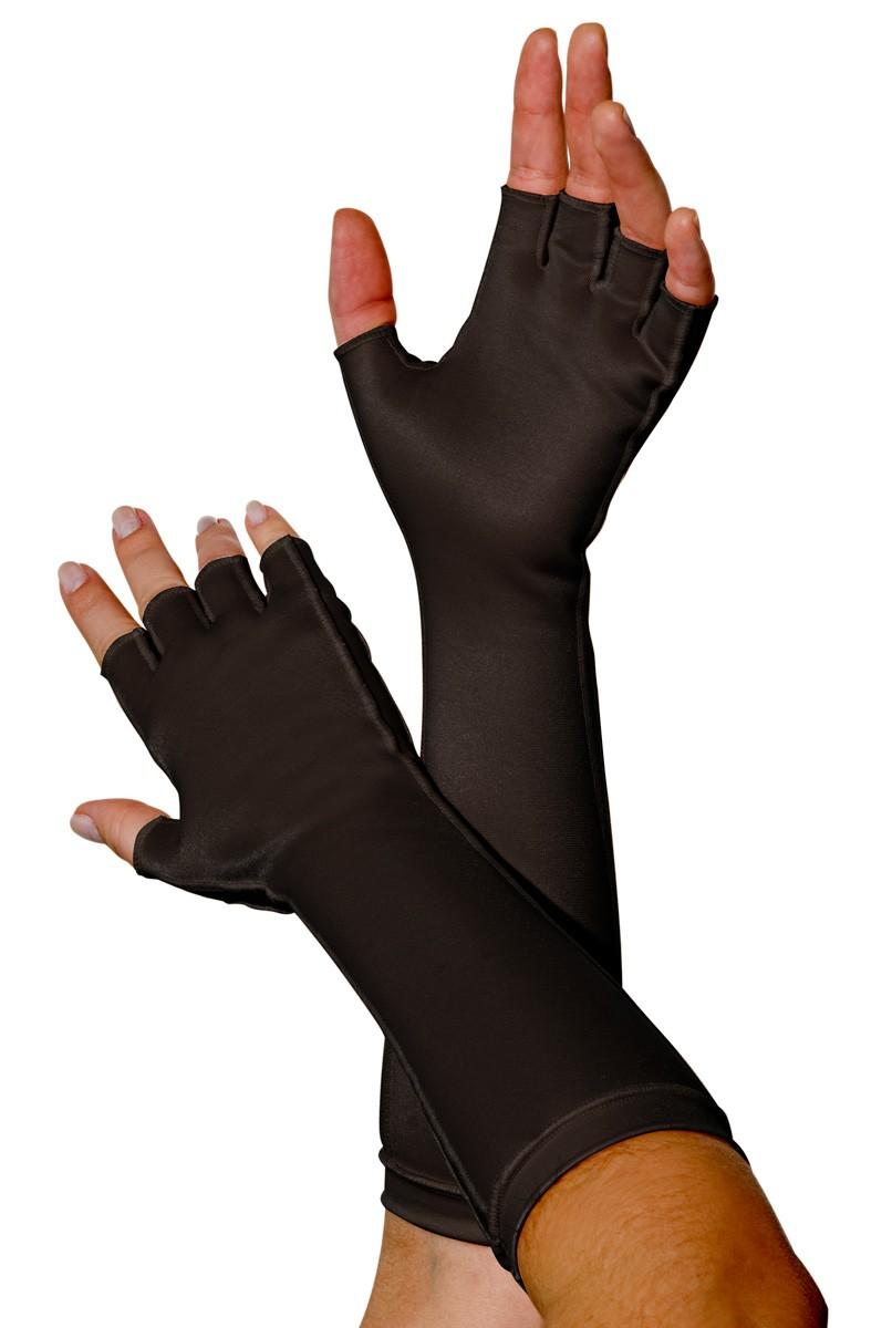 Luva meio dedo, longa UNISSEX - PRETA