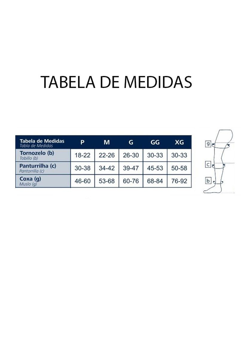 Meia Antitrombo Sigvaris 18-23mmHg 3/4, UNISSEX - BRANCA