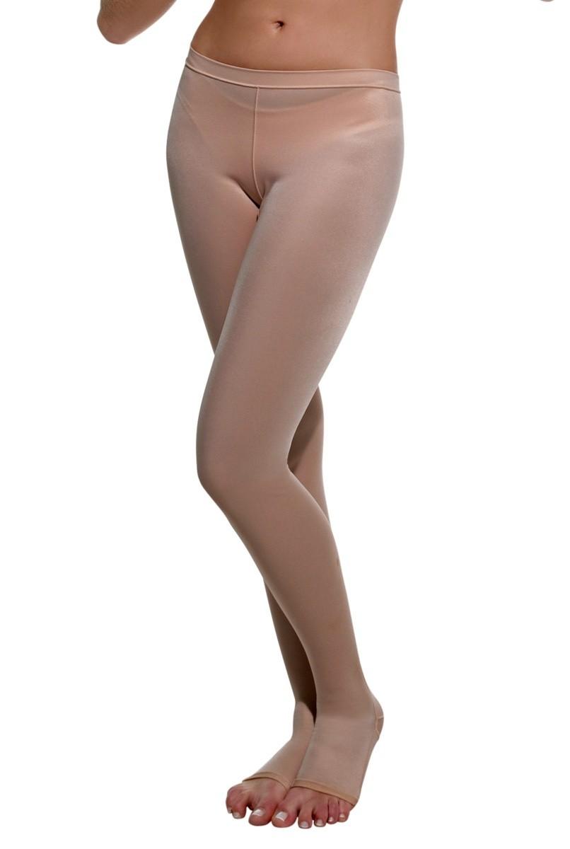 Meia calça com pés, UNISSEX - NUDE
