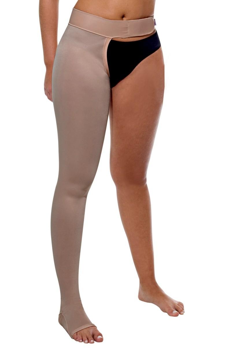 Meia para uma perna, com faixa fixadora, UNISSEX - NUDE