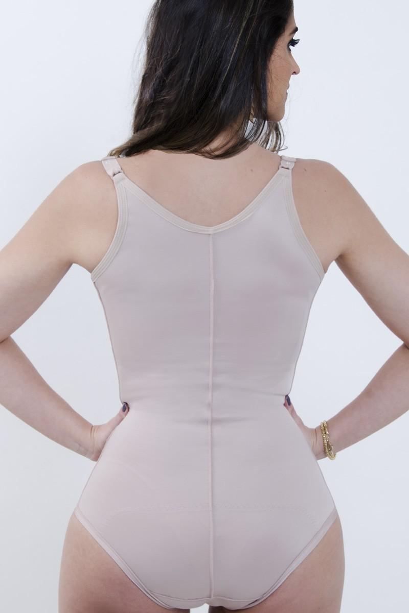 Modelador corselet sem pernas, sem sutiã, alça fina FECHADO - NUDE