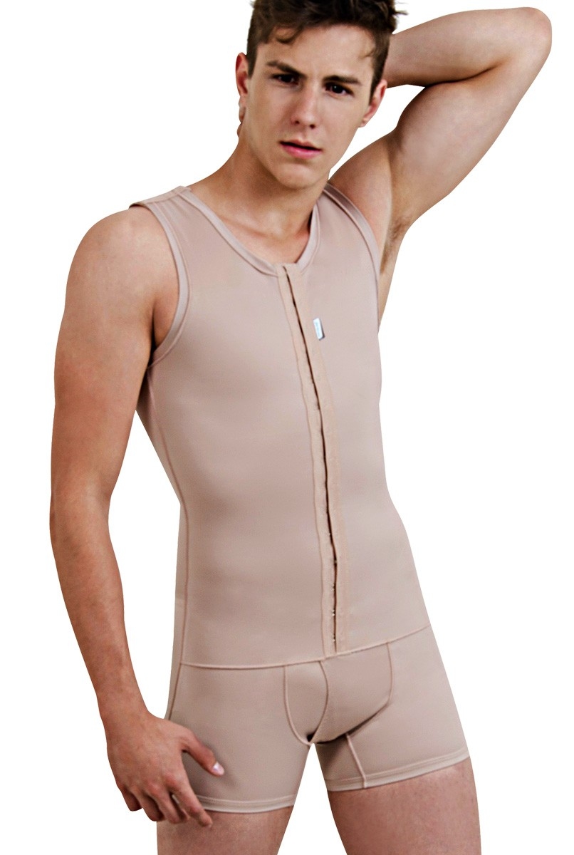 Modelador Masculino com cueca boxer, abertura frontal - NUDE