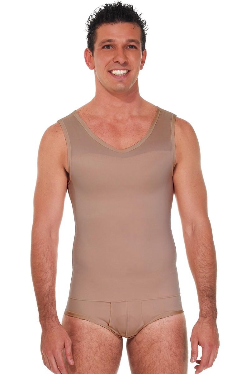 Modelador masculino, com cueca, regata, FECHADO - NUDE