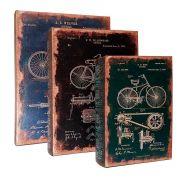 Conjunto Caixa Livro Bike  - 3 pçs