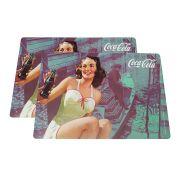Jogo Americano Cortiça Coca-Cola Pin-up -2 conj