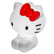 Luminária de Mesa Hello Kitty Branco - com lâmpada instalada