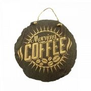 Placa Decorativa MDF Morning Coffee Ø 30 cm