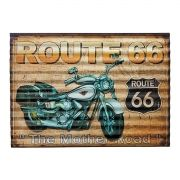 Placa Decorativa Metal Route 66 -  40 x 29 cm