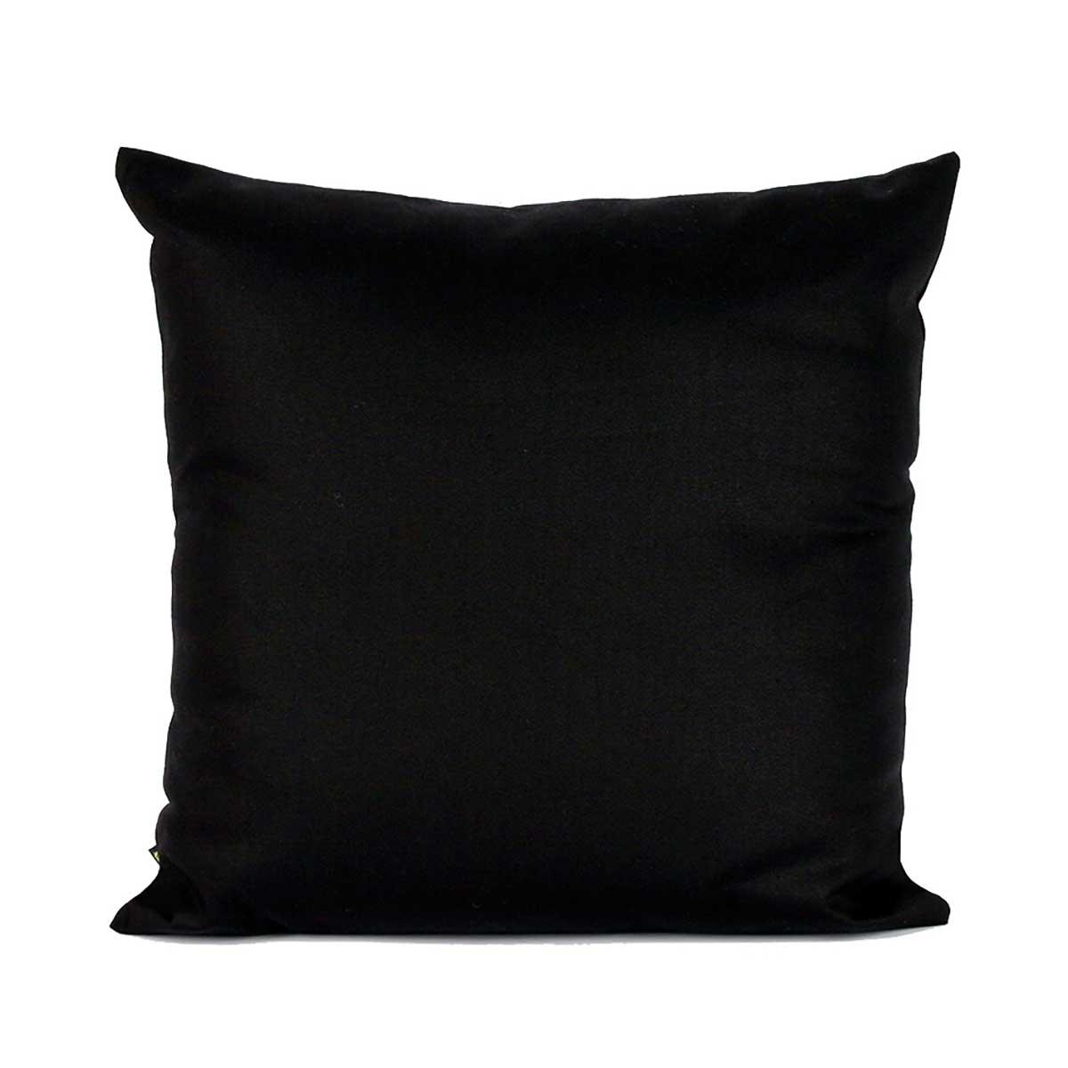 Almofada Lisa Preta 45 x 45 cm