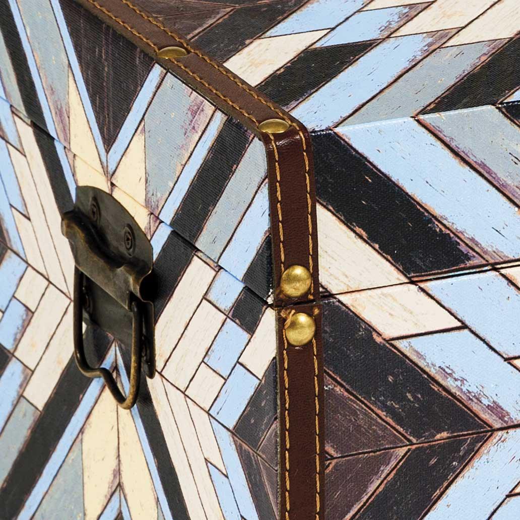 Baú Mosaico Geométrico Médio