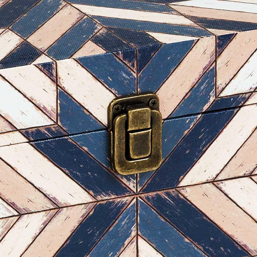 Baú Mosaico Geométrico Pequeno
