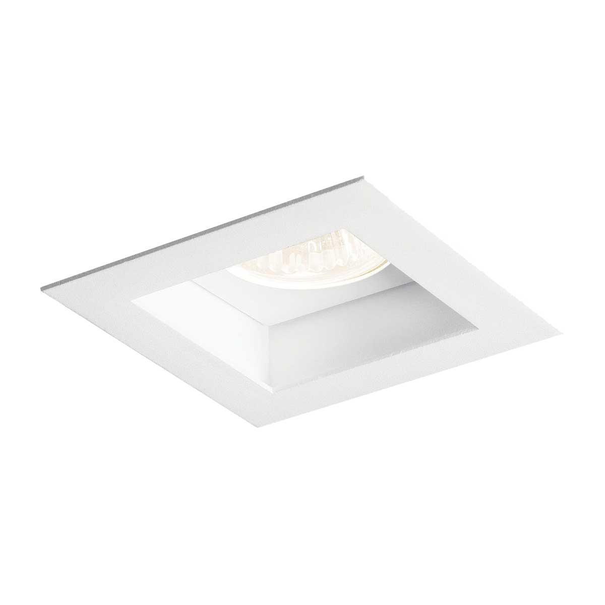 Luminária Embutir Flat Quadrada Direcionável Branco 1 lâmpada Dicróica