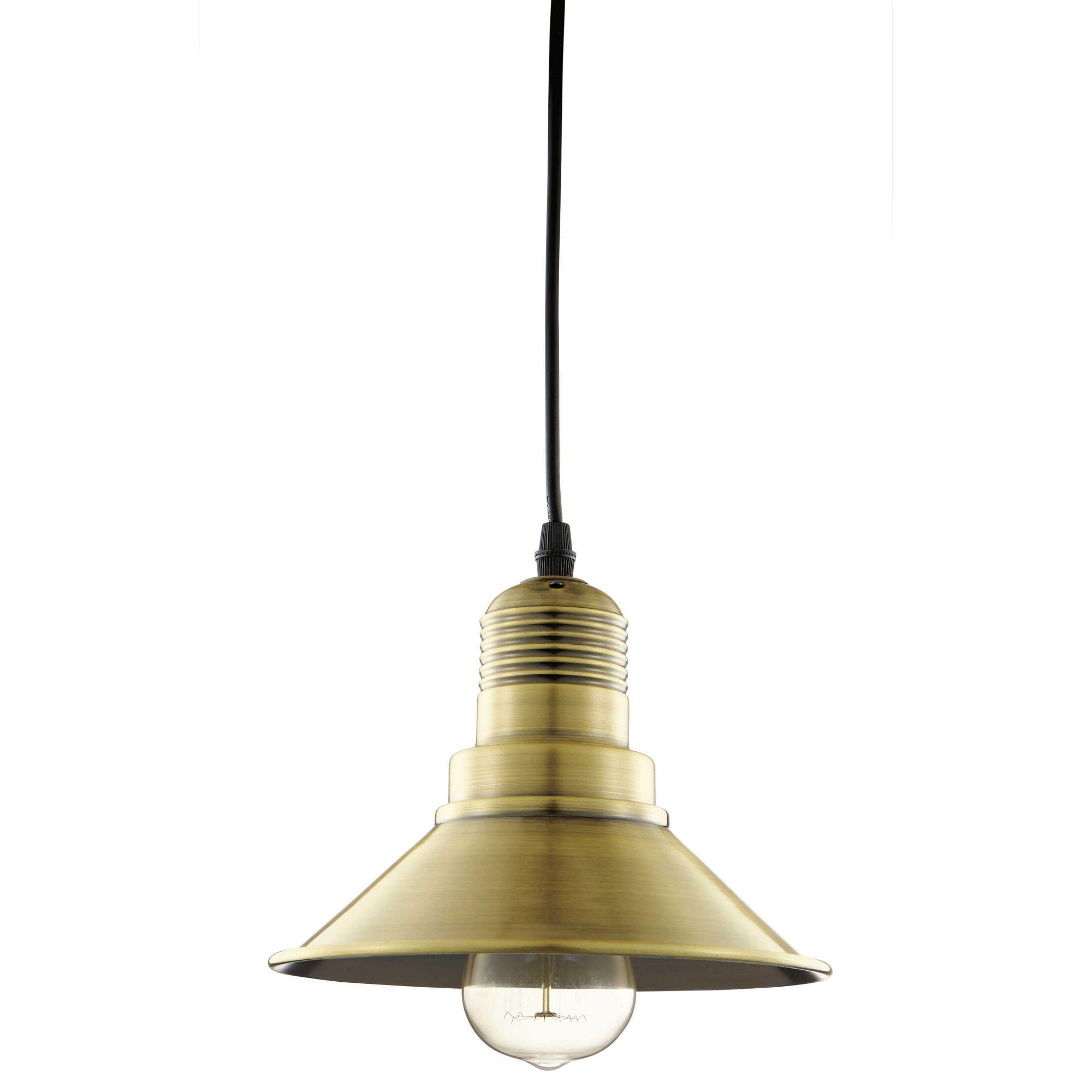 Luminária Pendente Industrial Ouro Velho