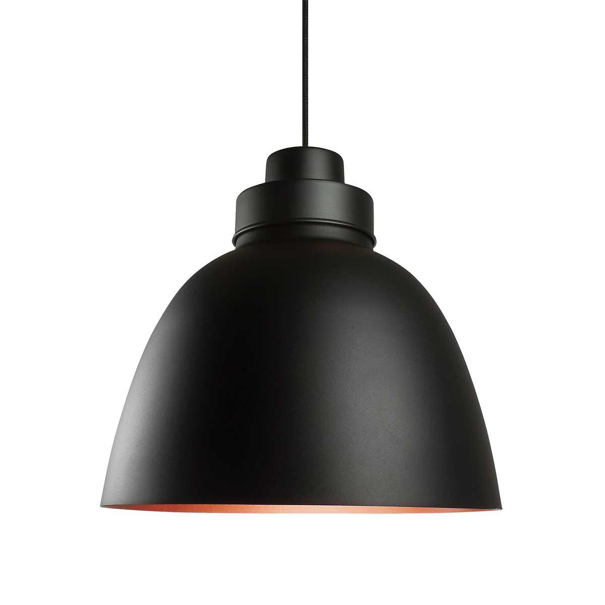 Luminária Pendente New Industrial  Preto-Cobre-Preto