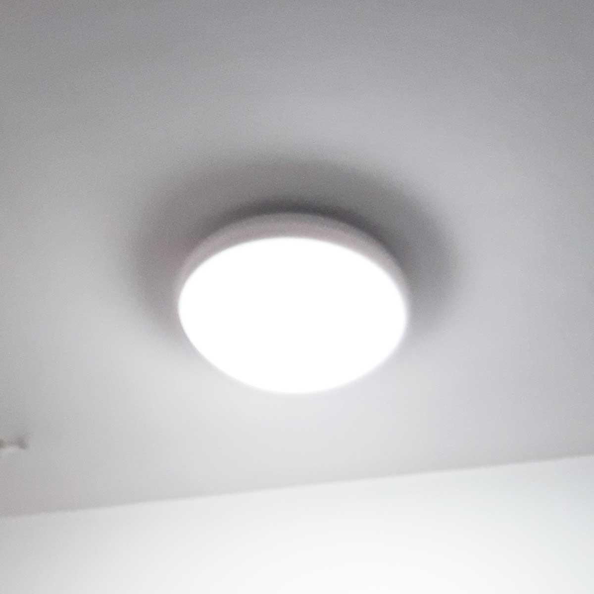 Luminária Sobrepor Discus Branco 2 lâmpadas