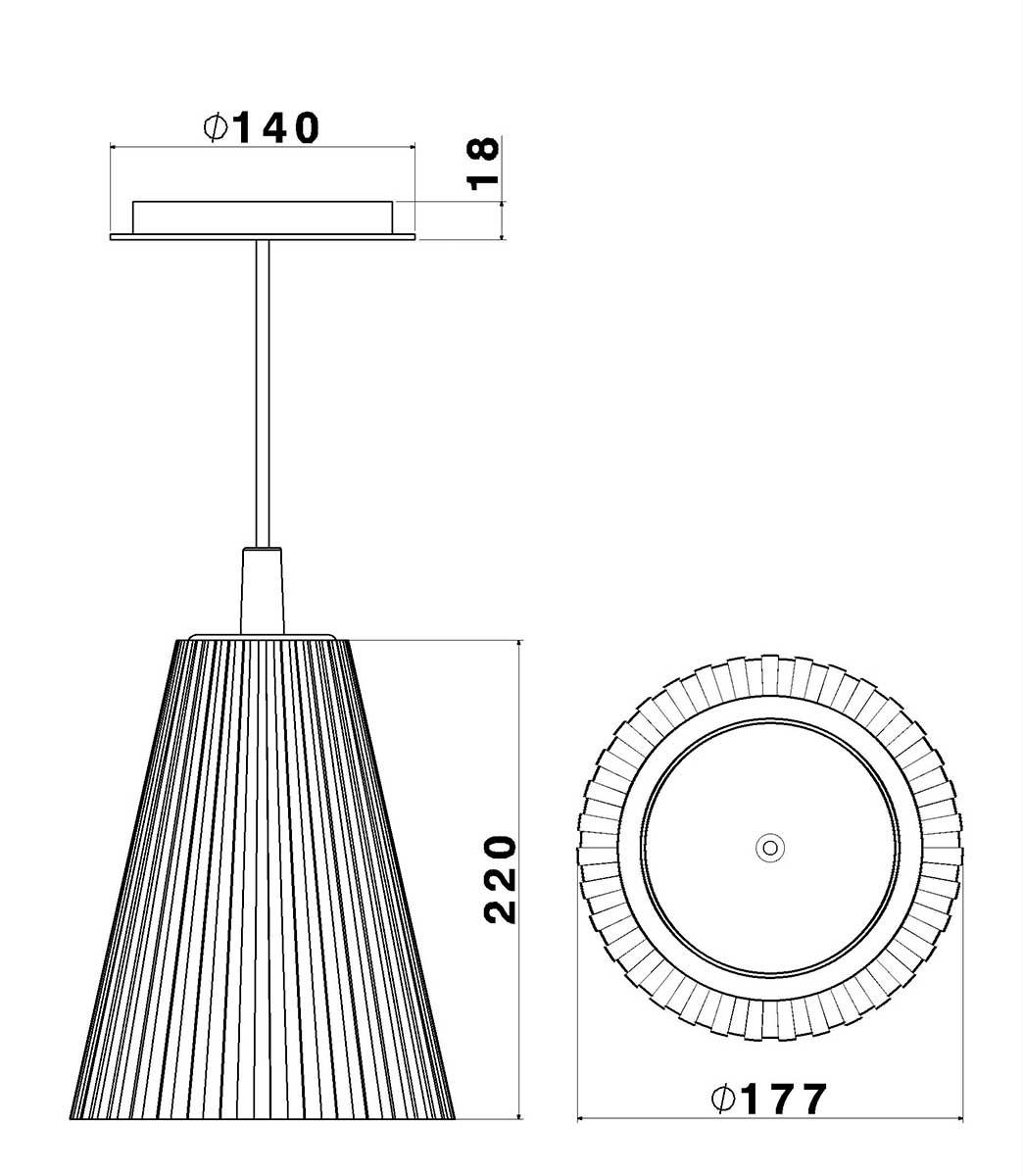 Luminária Pendente Torino Bege 1 lâmpada