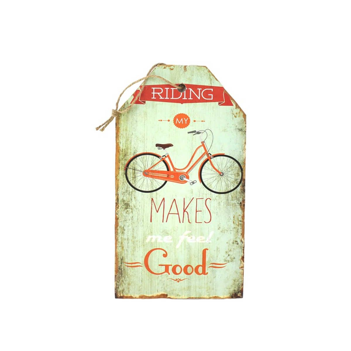 Placa Decorativa MDF Riding my Bike 15 x 27 cm