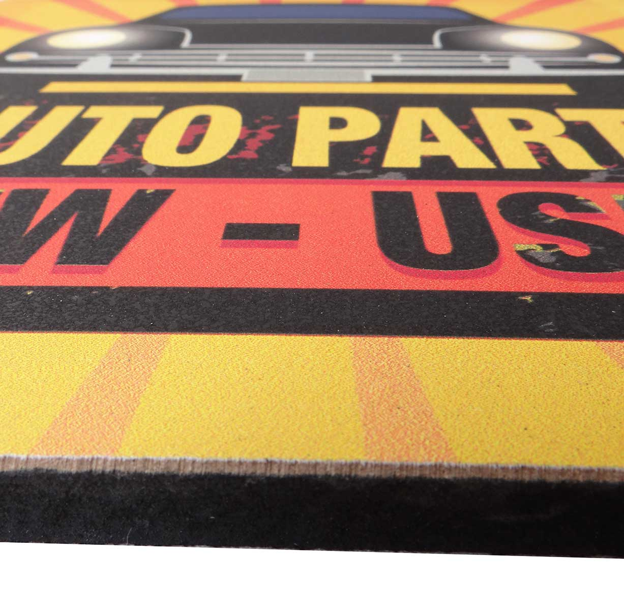 Placa Decorativa MDF Auto Parts  21 x 21 cm